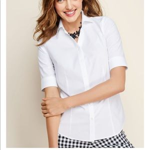 Talbots elbow sleeve blouse